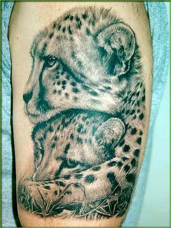 Татуировка гепарда
