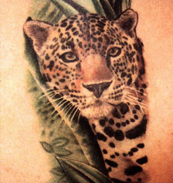 Леопарда татуировки леопарда