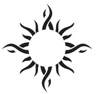 Эскиз солнца для татуировки