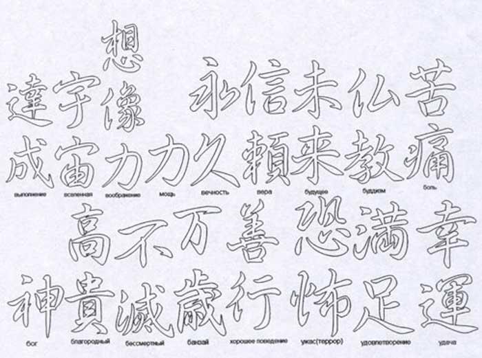 Иероглифы японские и китайские