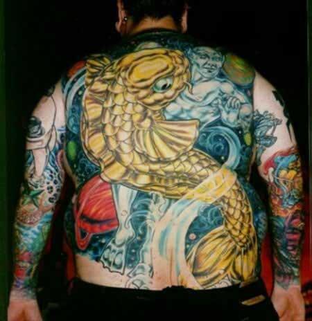 И китайские тату татуировки карпа