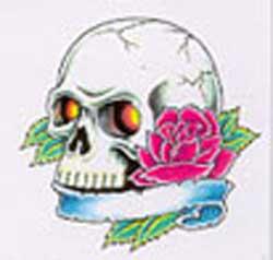 Череп с розой картинка
