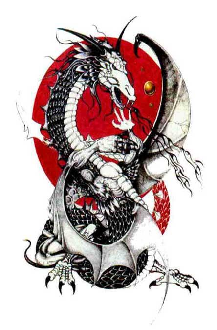 Цветные картинки дракона 7