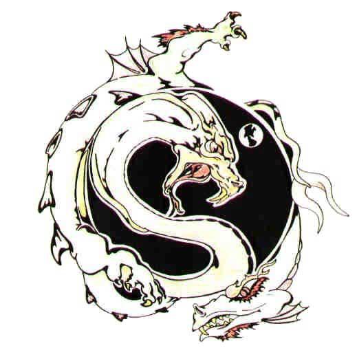 Тату узоры драконы