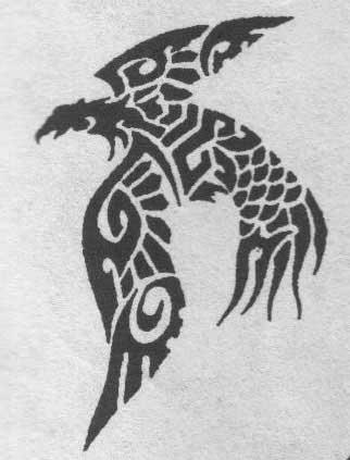 Эскиз татуировки глухаря