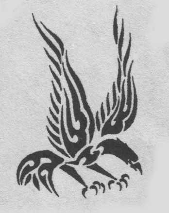 Сорона или ворона шаманская тату