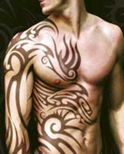 Татуировки трайбл узоров trable черно