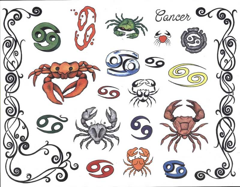 рисунки тату знак зодиака