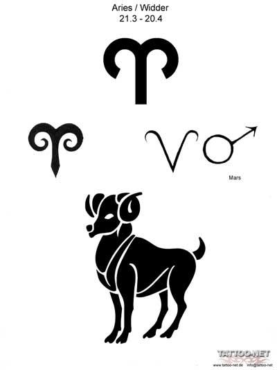 Эскиз татуировки овна знак зодиака